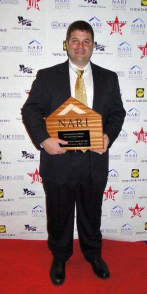 Joe Kupstas, Owner RemodelWerks Holding NARI Award