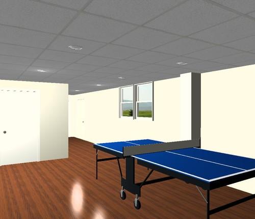 Shrewsbury Basement Remodel 3D Rendering